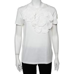 Moncler Genius White Cotton Applique Detail Simone Rocha T-Shirt S