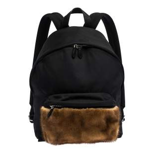 Givenchy Black/Brown Nylon and Calfhair Backpack
