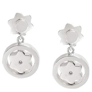 Montblanc Star Signet Collection Silver Dangle Stud Earrings