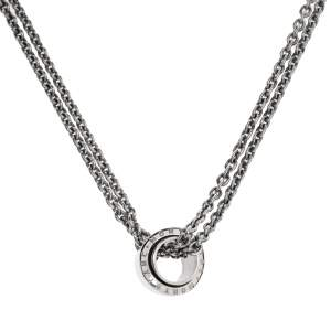 Montblanc Profile Collection Silver Wish Pendant Necklace