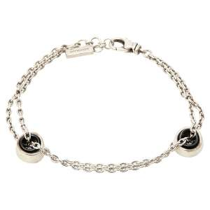 Montblanc Profile Collection Black Ceramic Silver Wish Bracelet