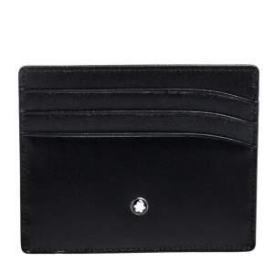Montblanc Black Leather Meisterstuck Card Holder 6CC