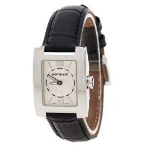 Montblanc Silver White Stainless Steel Profile 7047 Women's Wristwatch 23 mm