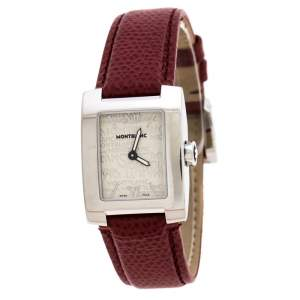 Montblanc Ivory Stainless Steel Profile Elegance 7047 Women's Wristwatch 23 MM