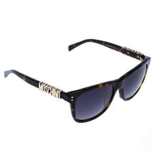 Moschino Brown Tortoise Gradient Safilo Square Sunglasses