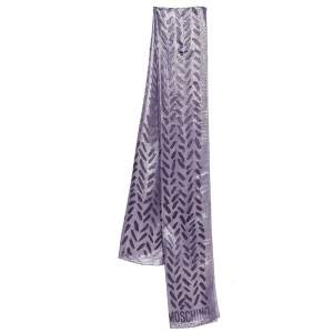 Moschino Purple & Gold Lurex Devore  Scarf
