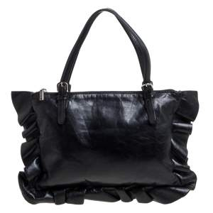 Moschino Black Leather Tote