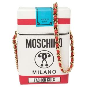 Moschino Multicolor Leather Fashion Kills Shoulder Bag