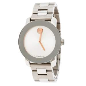 Movado Silver Stainless Steel Bold MB.01.3.14.6037 Men's Wristwatch 36 mm