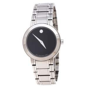 Movado Black Stainless Steel M0.08.03.014.1031.1033.4/002 Women's Wristwatch 27MM