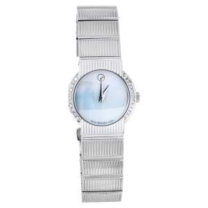 Movado Mother Of Pearl Stainless Steel Diamond Concerto 84.G4.1842 Women's Wristwatch 26 mm