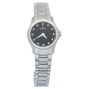 Movado Black Stainless Steel Museum 84 E4 1849 Women's Wristwatch 26mm