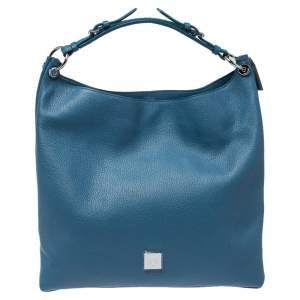 Mulberry Street Blue Leather Freya Hobo