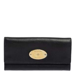 Mulberry Black Leather Continental Wallet
