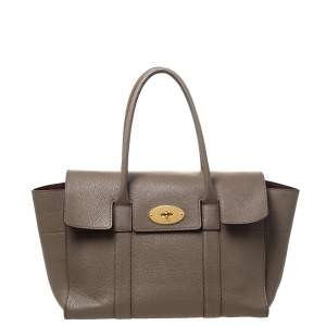 Mulberry Khaki Leather Bayswater Satchel