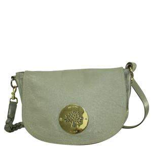 Mulberry Grey Leather  Daria Shoulder Bags