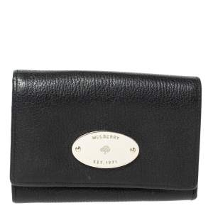 Mulberry Black Leather Compact Wallet
