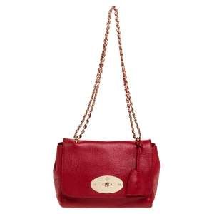 Mulberry Red Leather Lily Shoulder Bag