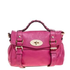 Mulberry Pink Leather Mini Alexa Crossbody Bag