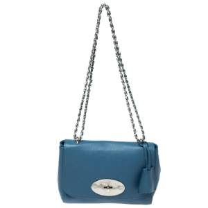 Mulberry Blue Leather Small Lily Shoulder Bag