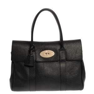Mulberry Black Leather Bayswater Satchel