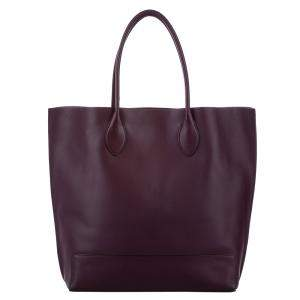 Mulberry Burgundy Leather Tote Bag