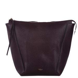 Mulberry Brown Grained Leather Camden Bucket Bag