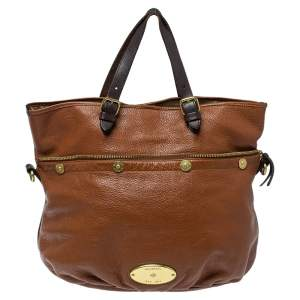 Mulberry Two Tone Brown Soft Leather Mitzy Tote