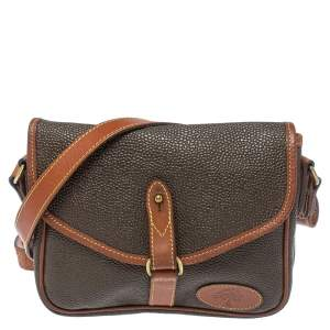 Mulberry Dark Brown Textured Leather Vintage Flap Crossbody Bag