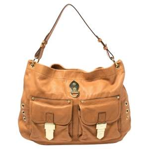 Mulberry Tan Soft Leather Buckle Pocket Hobo