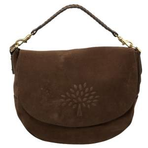 Mulberry Brown Suede Effie Hobo