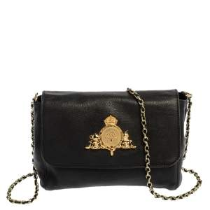 Mulberry Black Leather Chain Crossbody Bag