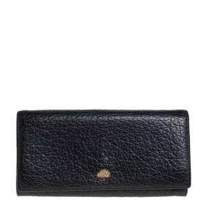 Mulberry Black Leather Flap Continental Wallet