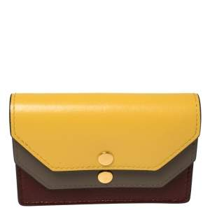 Mulberry Tri Color Leather Multiflap Card Case