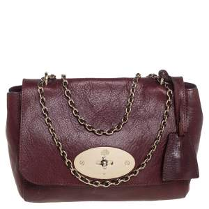 Mulberry Burgundy Leather Small Lily Shoulder Bag
