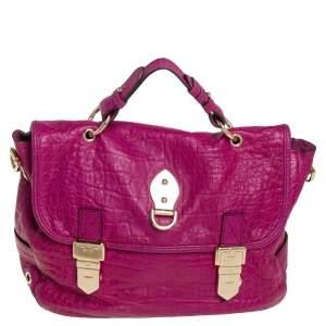 Mulberry Magenta Purple Leather Tillie Top Handle Bag
