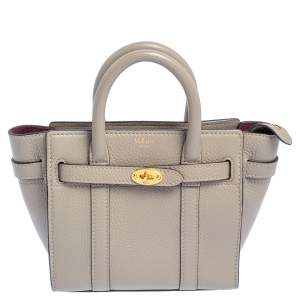 Mulberry Grey Leather Micro Bayswater Zip Tote