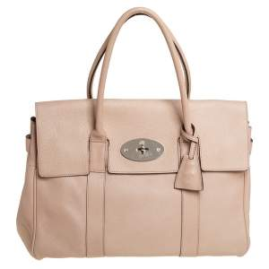 Mulberry Beige Leather Bayswater Satchel