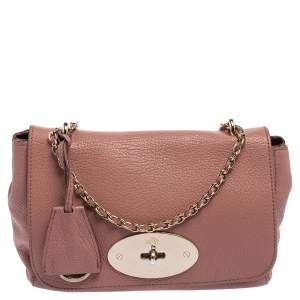 Mulberry Pale Pink Leather Small Lily Shoulder Bag