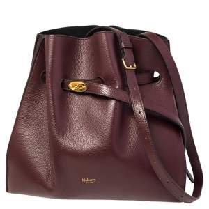 Mulberry Burgundy Leather Small Tyndale Bucket Bag