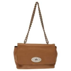 Mulberry Tan Leather Medium Lily Shoulder Bag