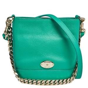 Mulberry Aqua Green Leather Mini Jamie Bucket Bag