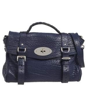 Mulberry Blue Leather Alexa Satchel