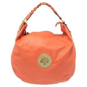 Mulberry Orange Leather Large Daria Hobo