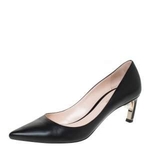 Nicholas Kirkwood Black Leather Maeva Pumps Size 38