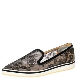 حذاء لوفرز نيكولاس كيركوود ألونا دانتيل أسود نعل سميك مقدمة مدببة مقاس 36