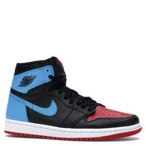 Nike Jordan 1 Unc/Chicago Leather Sneakers Size 38.5