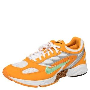 Nike White/Orange Leather And Mesh Air Ghost Racer Size 44.5