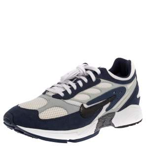 Nike White/Blue Leather And Mesh Air Ghost Racer Size 45