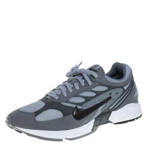 Nike Grey Suede And Mesh Ghost Racer Air Lace Up Sneakers Size 45